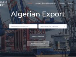 La plateforme Algerian export