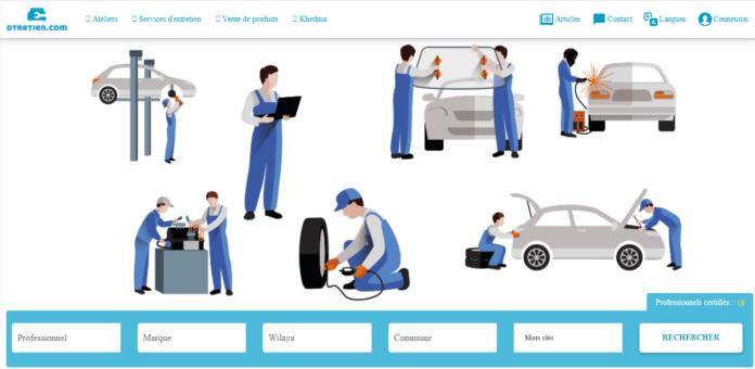 Interface du site otretien.com