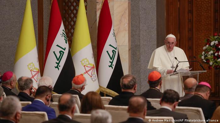 """Le Pape François en """"pèlerin de paix """"en Irak"""